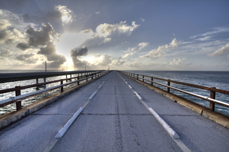 The beautiful Seven Mile Bridge, Florida Keys