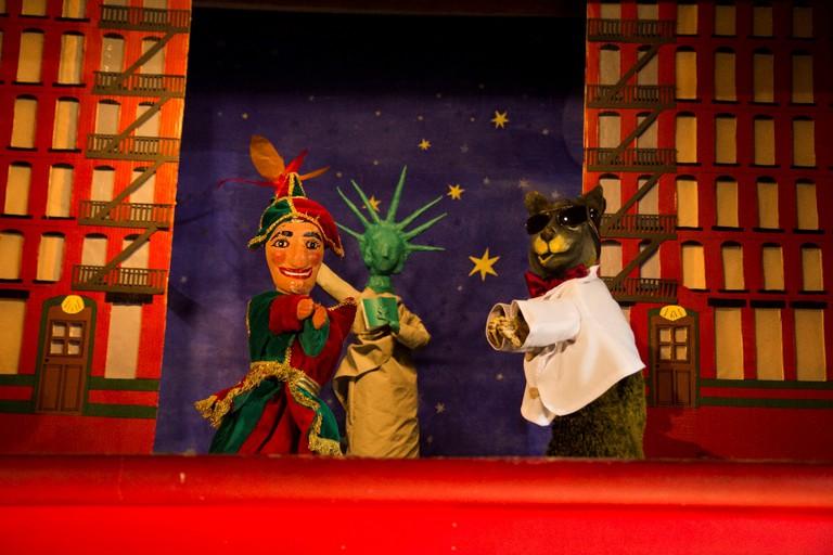 A show at the Théâtre de Marionettes du Parc Georges Brassens │ Courtesy of the Théâtre de Marionettes du Parc Georges Brassens