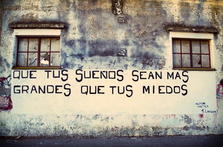 'Que tus sueños sean más grandes que tus miedos'