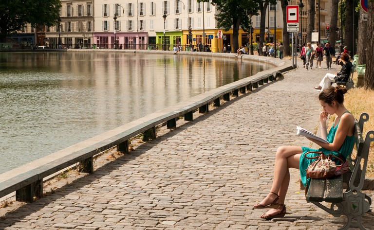 Benches along the Canal Saint-Martin │