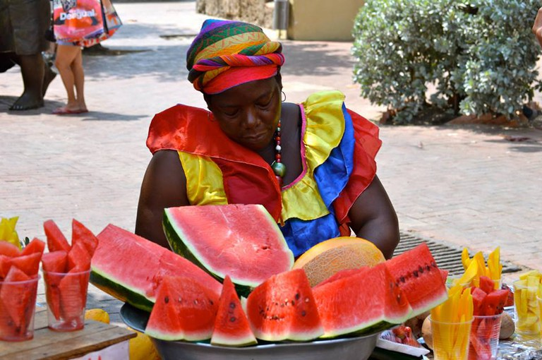Cartagena fruit vendor | © Nikki Vargas/The Pin the Map Project