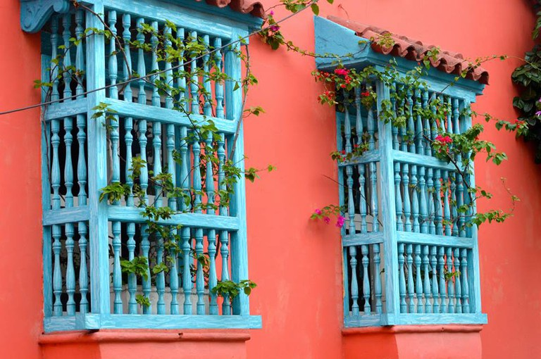 Colorful building in Cartagena | © Nikki Vargas/The Pin the Map Project