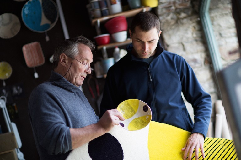 Denis Kenny of Ceadogán with ceramic artist Andrew Ludick | Courtesy of the Design and Crafts Council of Ireland