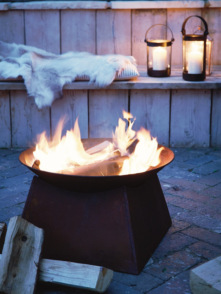 Cosy up around a brazier during winter