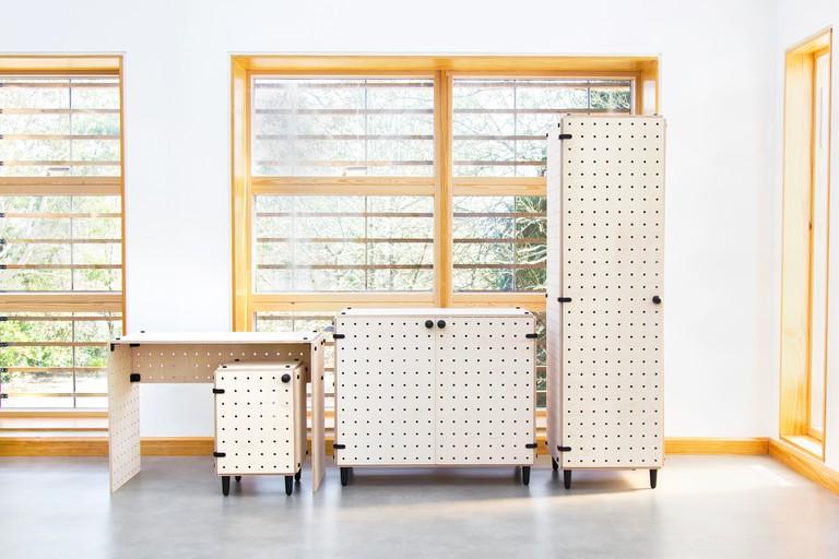 Crisscross flat-pack furniture by Sam Wrigley