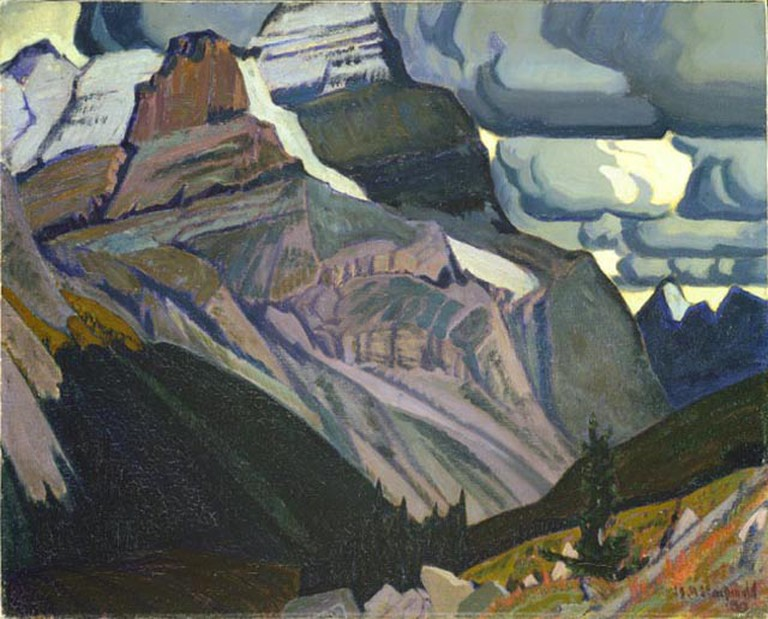 Dark Autumn, Rocky Mountains by James MacDonald, 1930 | Public Domain/WikiCommons