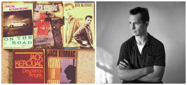 Kerouac books | © Thomas Galvez/Flickr / Jack Kerouac | Creative Commons