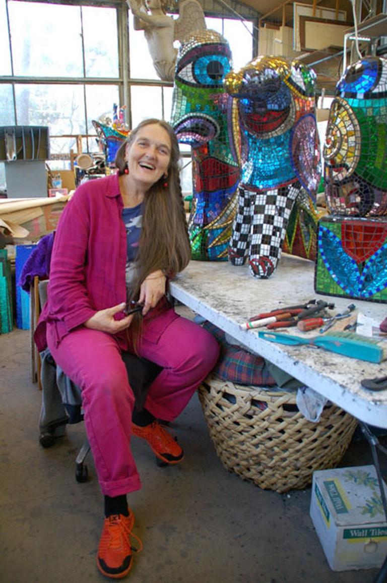 Deborah in her workshop