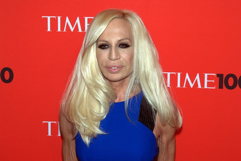 Donatella Versace at the Time 100 Gala in 2010 | © Flickr/David Shankbone