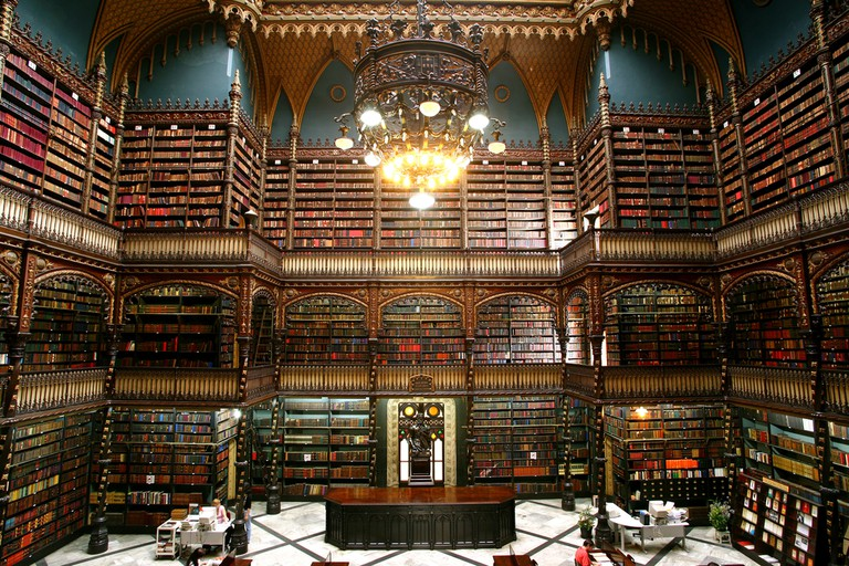 The inside of the Royal Portuguese Reading Room