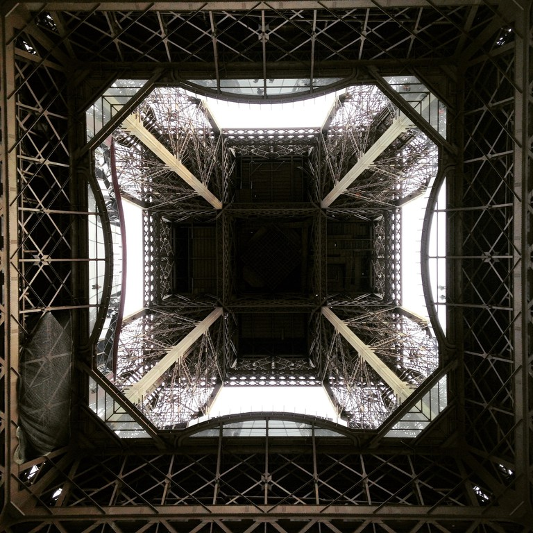 A different perspective of the very popular Eiffel Tower