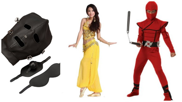 From L – R: Slave And Slave Master, Belly Dancer, Ninja
