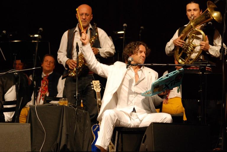 Goran Bregović helped popularise the Serbian trumpet