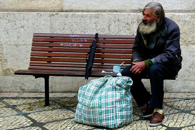 Homelessness is a problem across Europe | © Flickr/Pedro Ribeiro Simões
