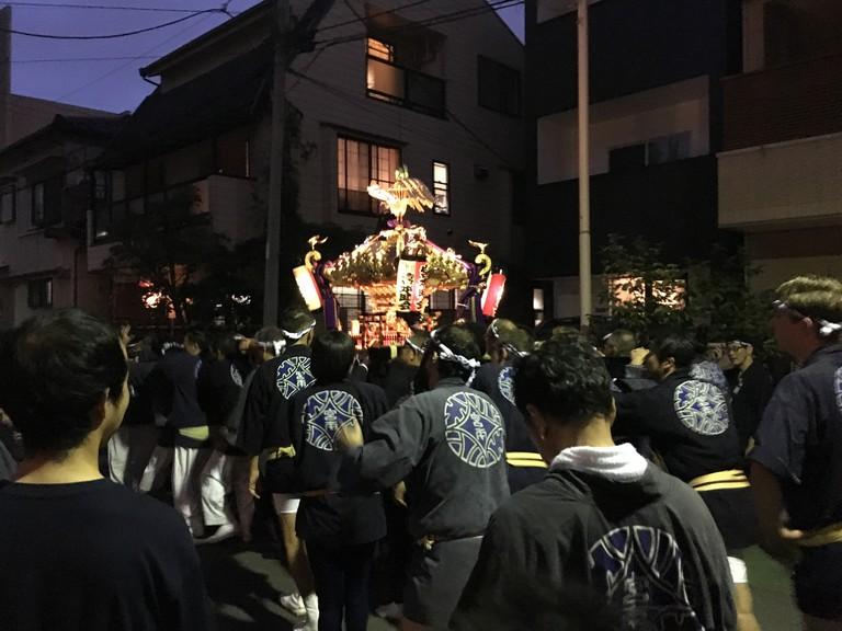 Mikoshi parade | © Alicia Joy