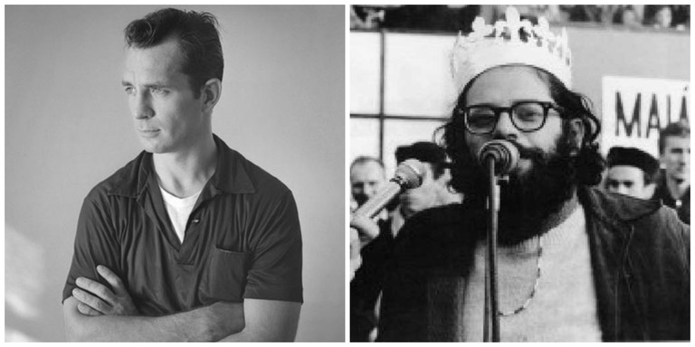 Jack Kerouac circa 1956 │© Tom Palumbo ; Allen Ginsberg on May 1st, 1965 │© Engramma.it