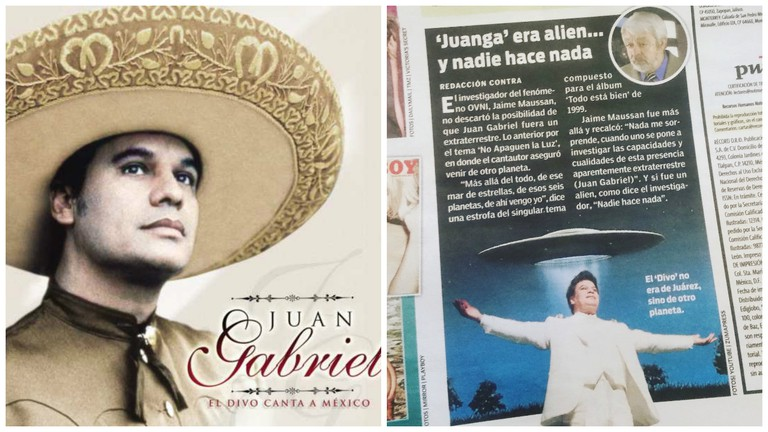 Juan Gabriel | © iClassical Com/Flickr / News article alleging Juanga was an alien | © vladimix/Flickr