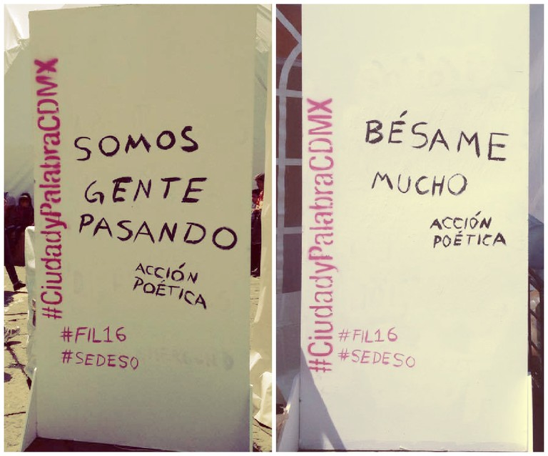 Acción Poética at the FIL2016, Mexico City | Courtesy of author