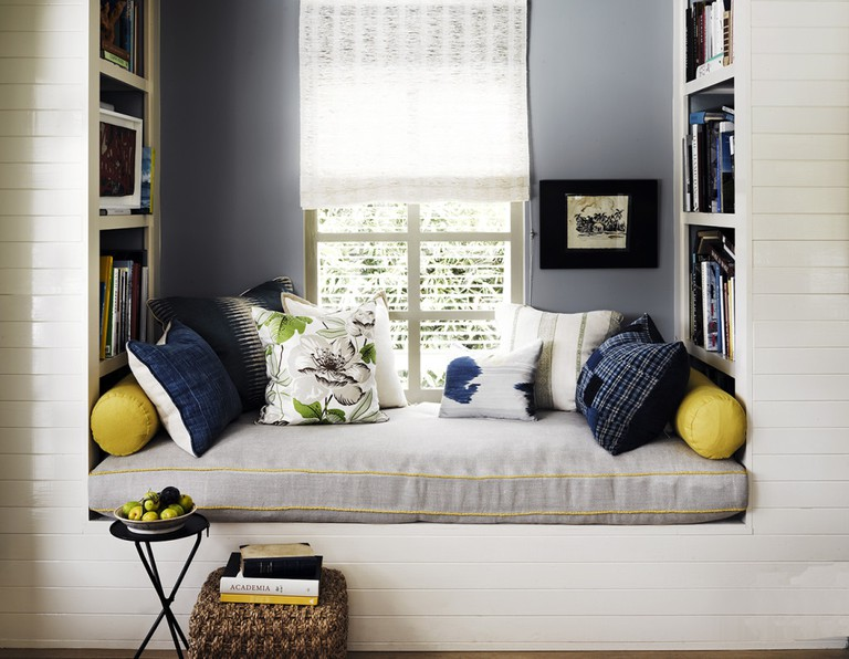 This cosy reading nook was created by designer Jeffrey Alan Marks