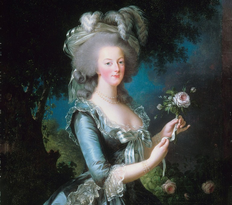 Marie-Antoinette with the Rose (1783) by Louise Élisabeth Vigée Le Brun (1755–1842)│© qwHgKqLoAQb9FQ at Google Cultural Institute