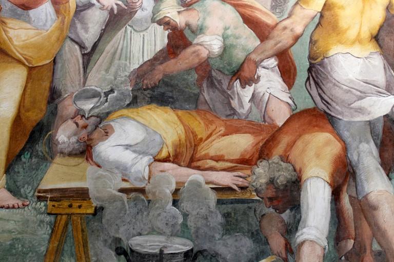 Martyrdom of Saint Primus, fresco in Santo Stefano Rotondo | © WikiCommons