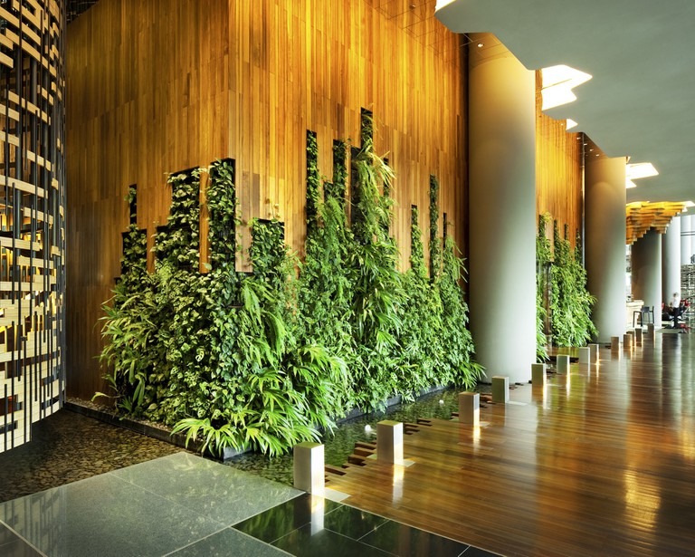 PARKROYAL on Pickering Hotel Lobby Living Wall Photo Credit; Patrick Bingham Hall | Courtesy of PARKROYAL@Pickering