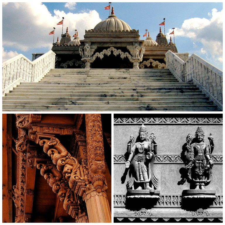 The Neasden Temple, arvings on the haveli, and cravings on the mandir ©CGP Grey/Flickr