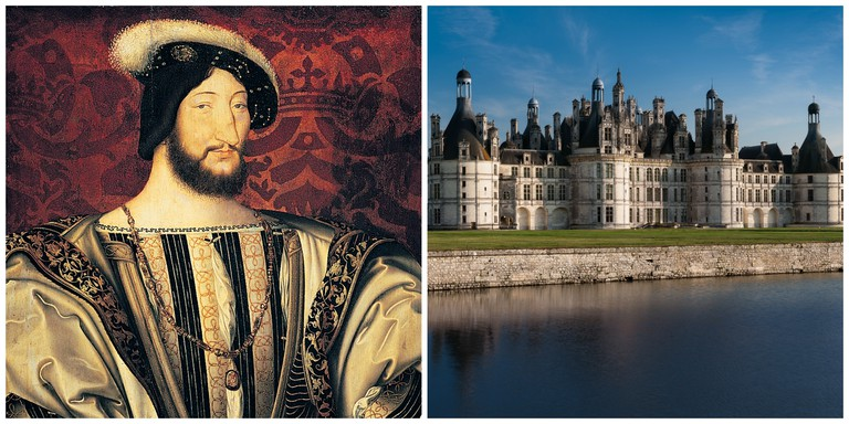 Portrait of Francis I │© Kvasir79 and Château Chambord │© flamouroux