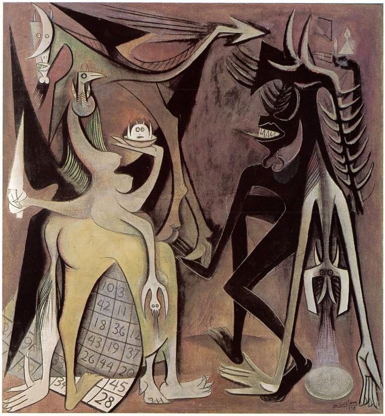 'Bélial, Emperor of the Flies', Wifredo Lam, 1948|©SDO Wifredo Lam/Tate