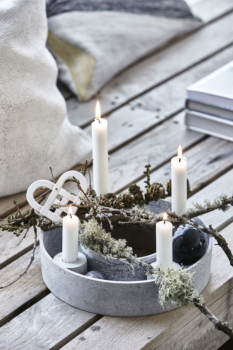 The Danes prefer simple white unscented candles