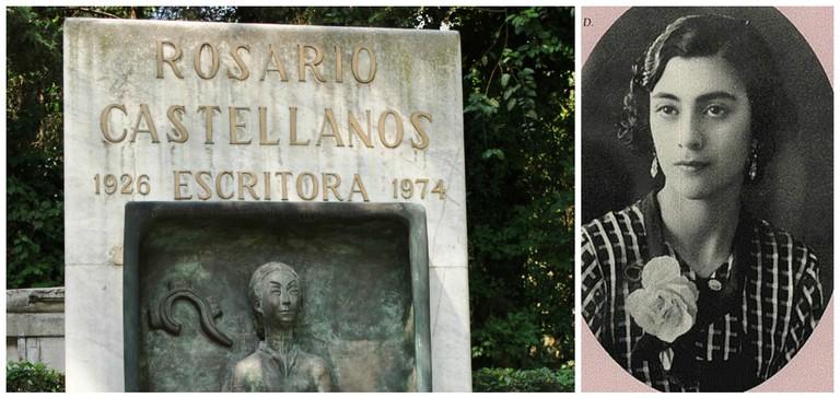 Rosario Castellanos' Tombstone | © Thelmadatter/WikiCommons / Rosario Castellanos | © Source/ WikiCommons