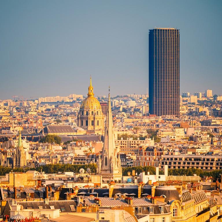 View on Tour Montparnasse and Les Invalides, Paris