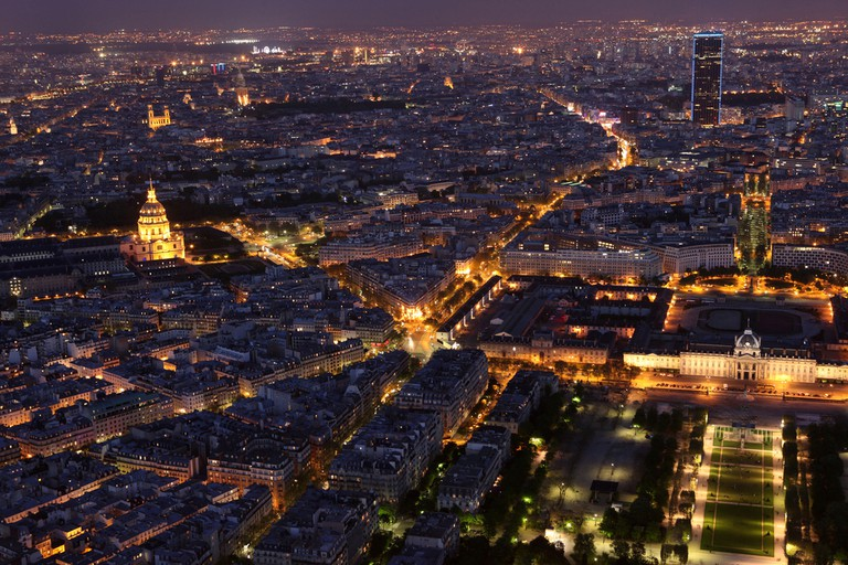 View of Pullman Paris Montparnasse Hotel from the Eiffel Tower