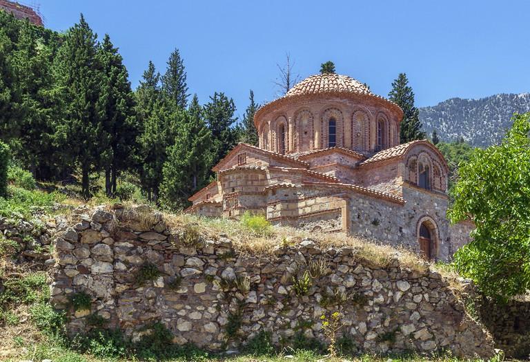 The Church of Agioi Theodoroi in Mystras Peloponnese, Greece