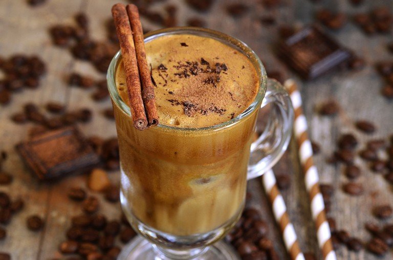 Coffee frappe - traditional recipe of greek cuisine