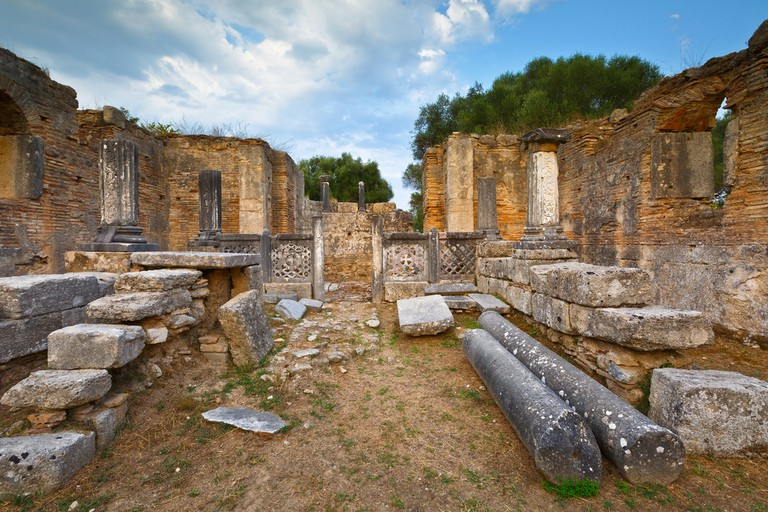 Pheidias' workshop and paleochristian basilica in the archaeological site of Ancient Olympia