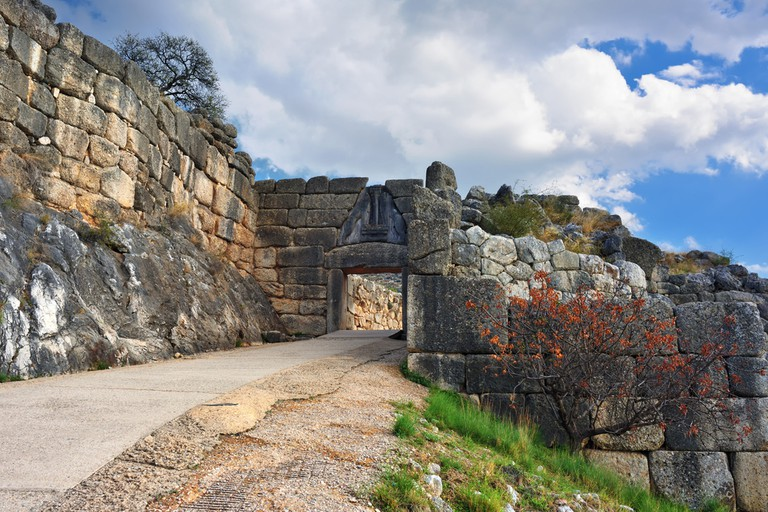 The Lion Gate. The archaeological sites of Mycenae and Tiryns