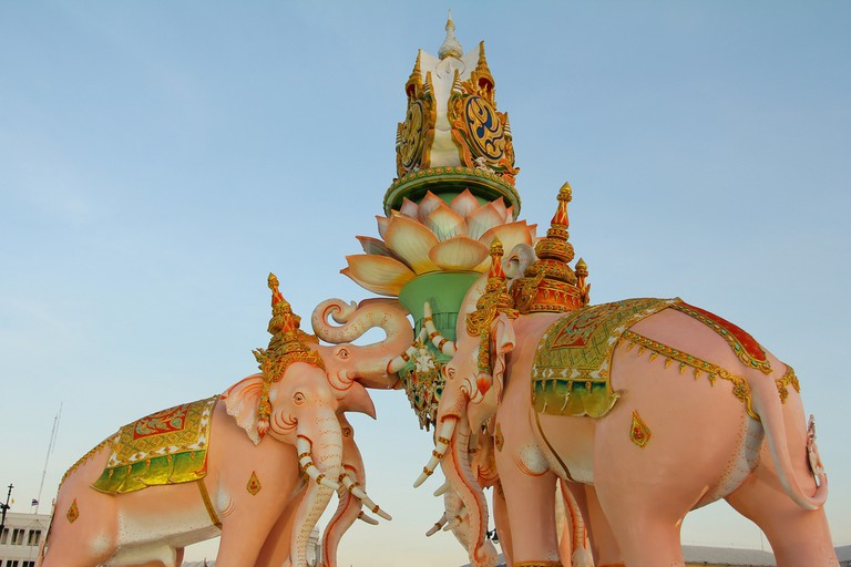 The Pink Elephant statue Decoration for His Majesty the King, King Bhumibol Adulyadej 84th birthday