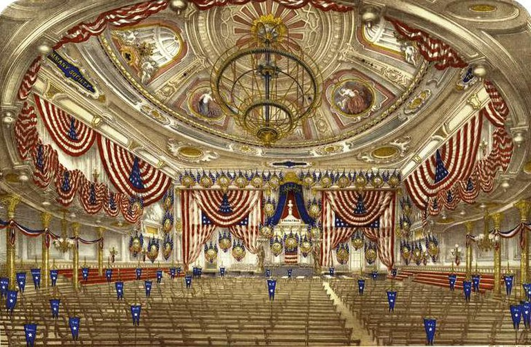 Tammany Hall interior for the 1868 national convention