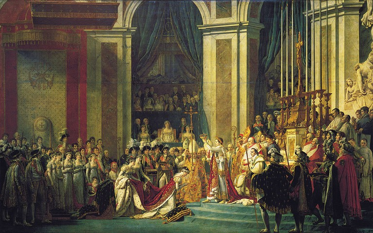 The Coronation of Napoleon by Jacques-Louis David in 1804 │WikiCommons