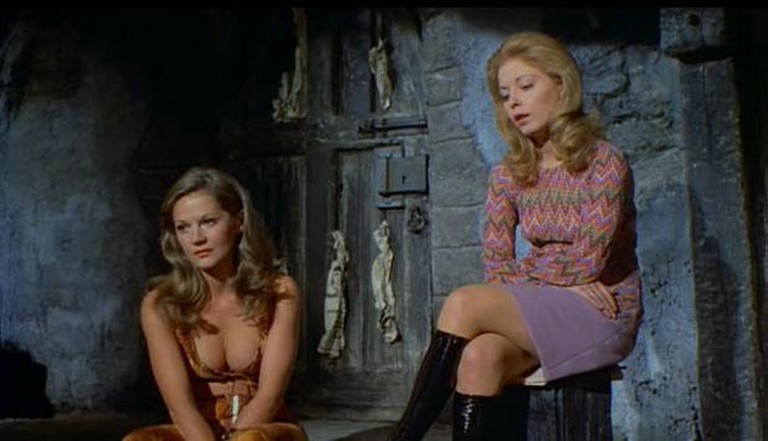 Anna Palk (left) and Jill Haworth in 'Tower of Evil'