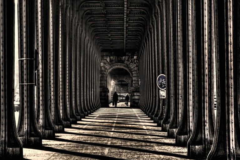 Under the Pont de Bir-Hakeim │