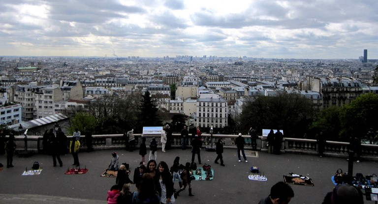 View of Paris from the steps at the Sacré-Coeur │