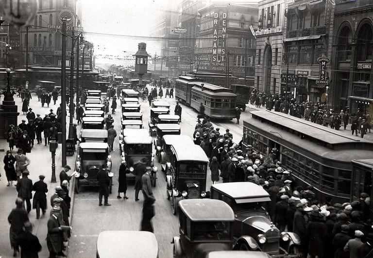 Michigan & Griswold circa 1920 | Public Domain/WikiCommons