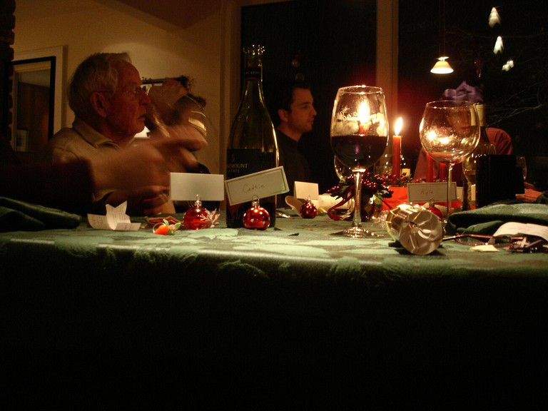 After dinner, conversation flows in Spain
