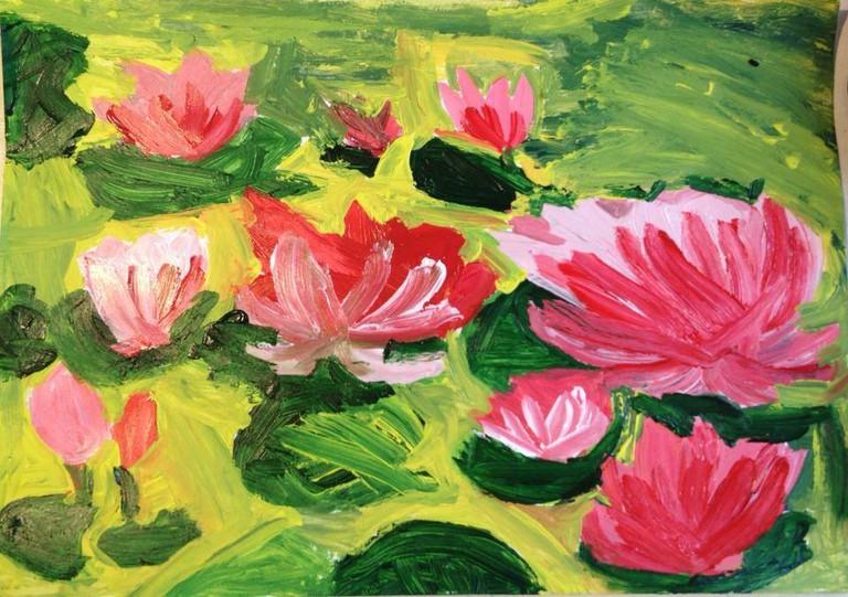Nem's painting of flowers