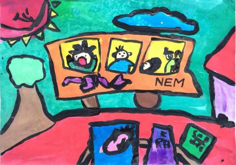 A painting by Nem