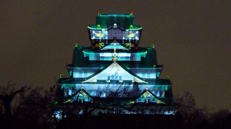 Osaka Castle illumination