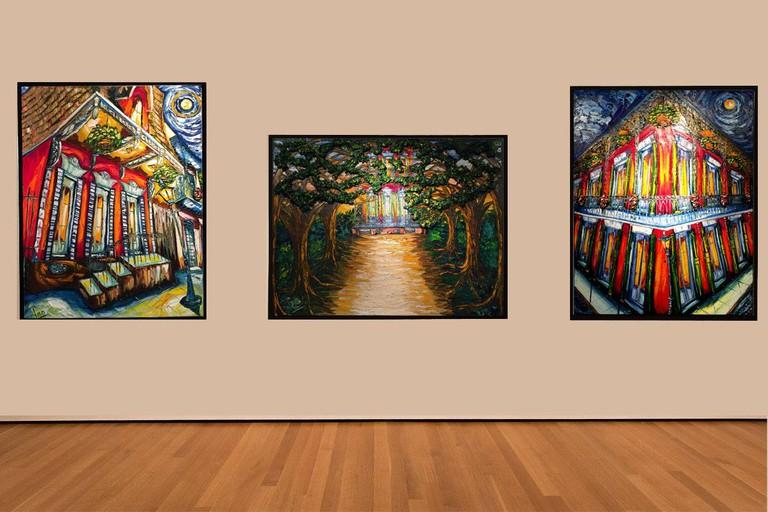 Artworks at Caliche & Pao Gallery, courtesy of Caliche & Pao