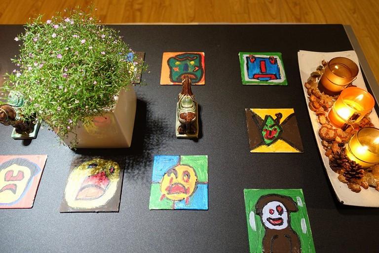 Nem's paintings on display